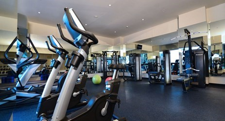 The Prime Fitness Center is for the health and fitness enthusiasts or simply in need of a good workout, overlooking a magnificent landscaped outdoor swimming pool and whirlpool
