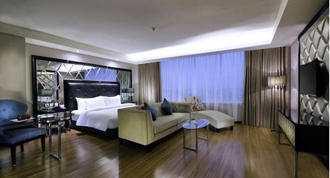 Junior Suites come with a king-sized bed and separate living area. Providing all the essential modern amenities, They are ideal for accommodating corporate traveler or small families while in Solo.