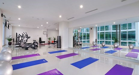 come up to our Fitness Center and build up your health and strength for the next leg of your travels