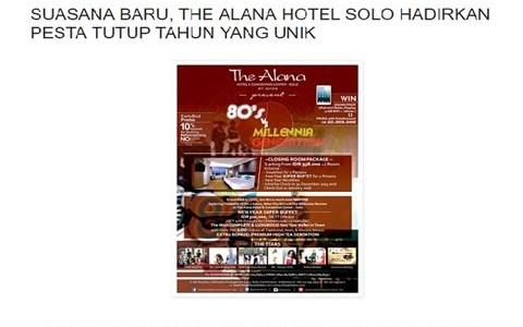 SUASANA BARU, THE ALANA HOTEL SOLO HADIRKAN PESTA TUTUP TAHUN YANG UNIK