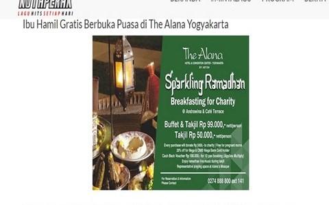 Ibu Hamil Gratis Berbuka Puasa di The Alana Yogyakarta