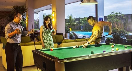 Try our billiard facility to relieve your stress and have fun with friends