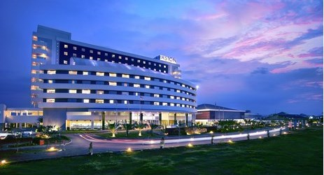 Modern hotel building located in Cirebon area