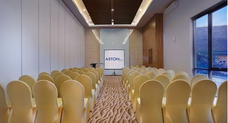 Indoor function room to host business meeting, workshop, training or wedding, birthday party or any reception in in modern stylish classy hotel in mataram lombok