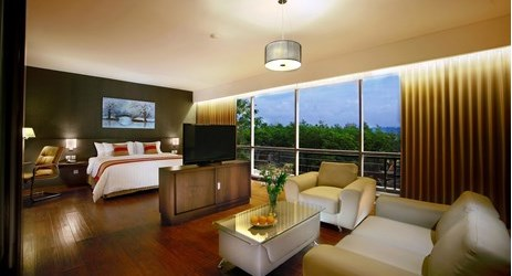 A clean and comfortable room with complete facility and best view of the city