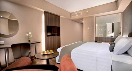 Unique room with minimalist design is perfect choice for business, leisure, and family overlooking to city view to stay in kupang