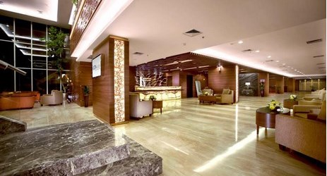 Aston Madiun Hotel lobby is the perfect place to meet and greet with friends or business colleagues