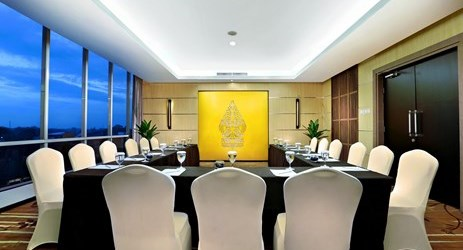 A small sized meeting room for private gathering in the best hotel With exclusive interior