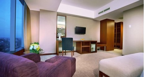 Ample wardrobe space feature in all of Aston Madiun Hotel rooms.