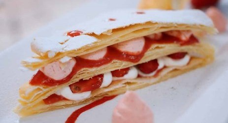 Delicious Strawberry mille feuille. Gonna be nice as the sweet touch in your mouth