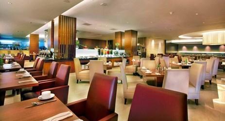 Enjoy breakfast lunch dinner at simple elegant restaurant in makassar