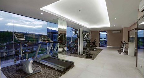 A fully furnished mini gym to enjoy workout while looking at exclusive mountain view and lush greenery of Sentul area