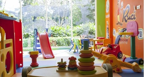 Our Kids Club provide a lot of games and wide space for your children playground.