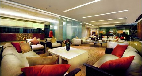 Grand Aston Yogyakarta's hotel lobby is the perfect place to meet and greet with friends or business colleagues