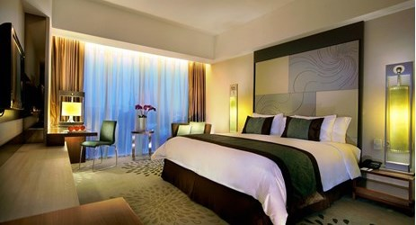 Contemporary and chic complete with imaginative artwork of 33 square meter Deluxe Rooms offering pool and Mount Merapi view ideal for family or business people come to Yogyakarta
