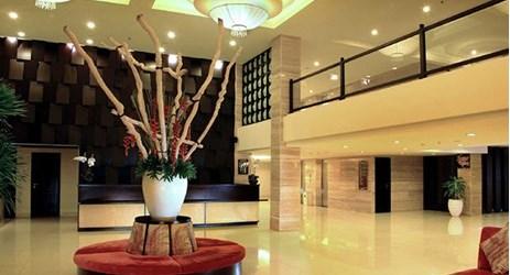 Spacious lobby with welcoming atmosphere in kuta bali