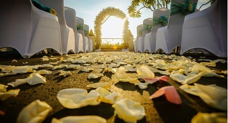 sunset wedding venue in kuta bali