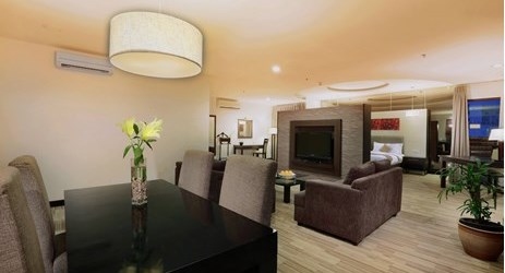Equipped with its own dining table and guest's area, luxurious and spacious. Definitely your perfect home away from home