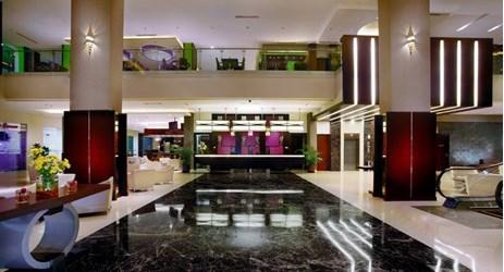 Elegant lobby of star hotel in purwokerto