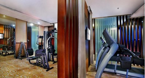 A cozy clean and comfortable fitness center to work out body while have a business or holiday in Samarinda