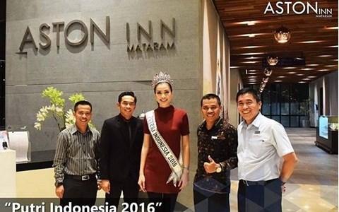 Putri Indonesia 2016 Chose Aston Inn Mataram