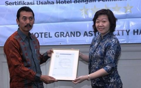Grand Aston Medan got five star certification