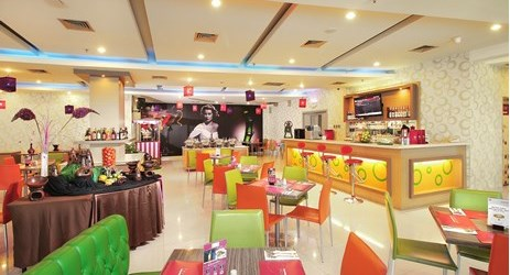 Colorful place to enjoy delicious food and beverage