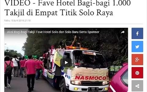 VIDEO - Fave Hotel Bagi-bagi 1.000 Takjil di Empat Titik Solo Raya