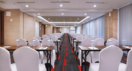 Pakubuana room can accommodate up to 243 persons in theatre ideal for training an meeting in Yogyakarta