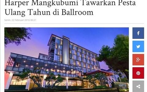 Harper Mangkubumi Tawarkan Pesta Ulang Tahun di Ballroom