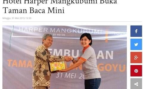 Hotel Harper Mangkubumi Buka Taman Baca Mini